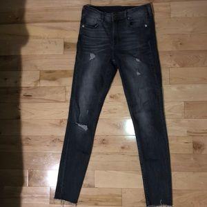 Dark grey skinny jeans